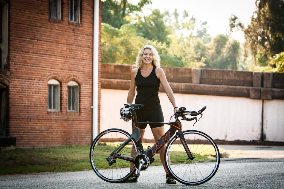 full bike brick and white view